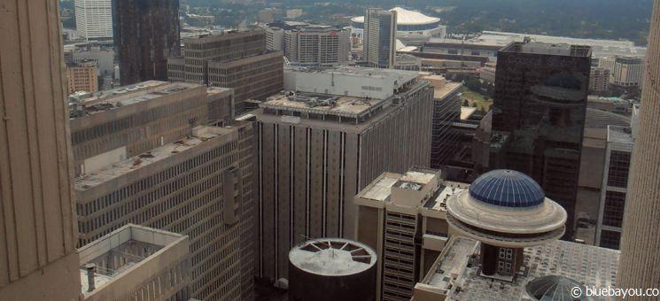 Downtown-Blick aus dem Marriott Marquis Hotel Atlanta - Drehort der Hunger Games