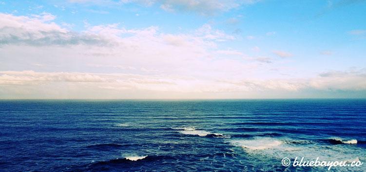 Blauer Himmel und blaues Meer: Tag 3 bereitet mir wundervolles Wetter im Februar.