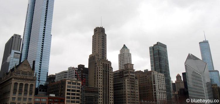 Ein Teil der Skyline von Chicago.
