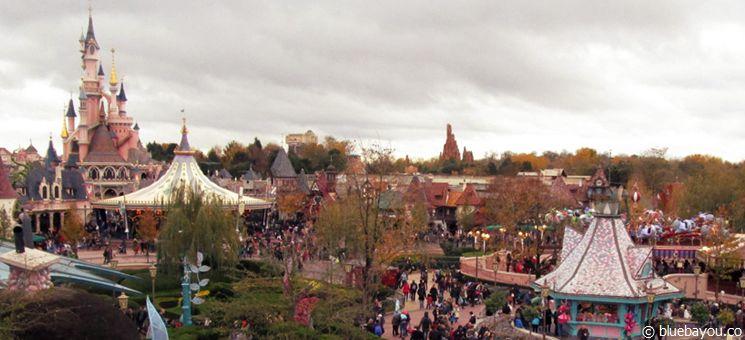 Blick über Disneyland Paris.