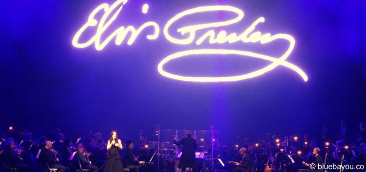 Priscilla Presley zusammen mit dem Czech National Symphony Orchestra in Berlin.