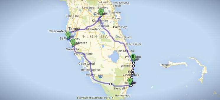 """USA-Routentipp: """"Strände und Städte Floridas""""."""