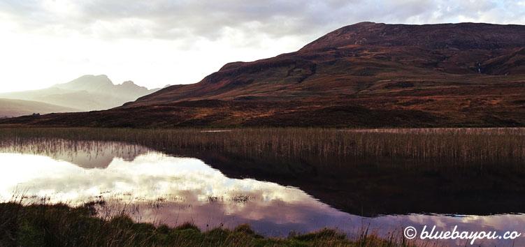 Fotoparade Berge: Abendstimmung vor Schottlands Bergen.