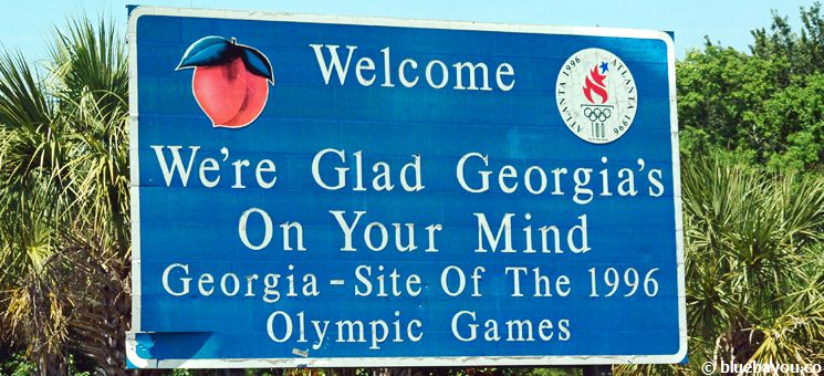 State Sign Georgia: We're Glad Georgia's On Your Mind!