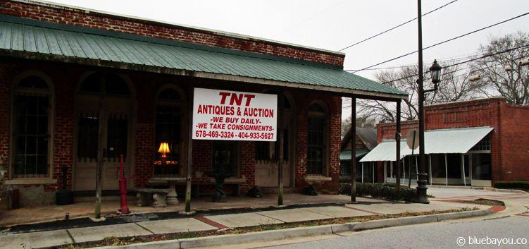 The Walking Dead Location in Sharpsburg, Georgia: Die Bar, in der Hersel, Rick und Glenn nach dem Vorfall an der Scheune sitzen.