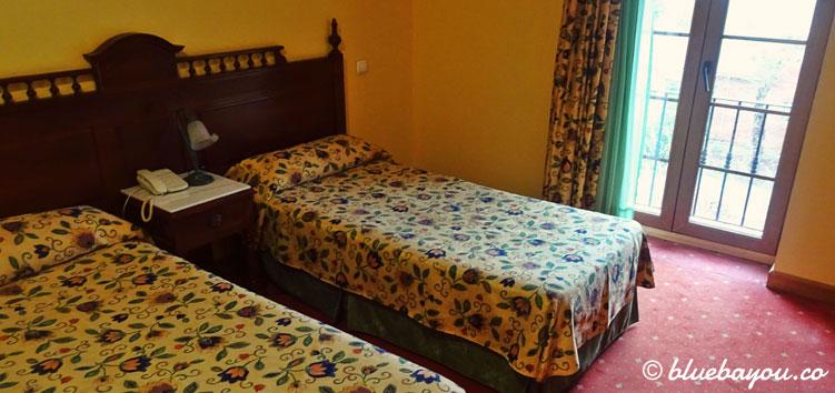 Mein Hotelzimmer in Viveda auf dem Jakobsweg.