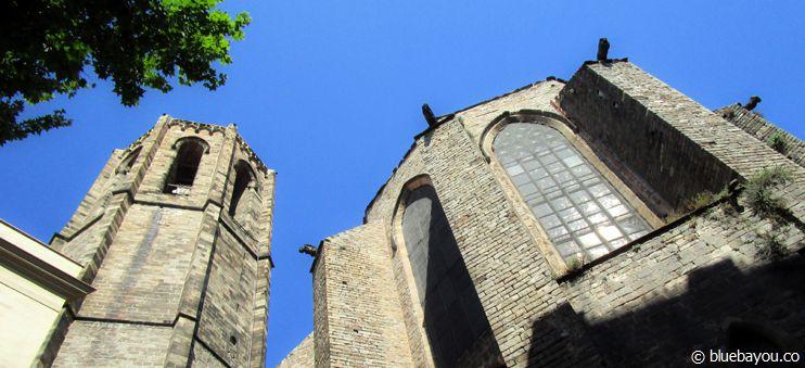Die Basílica de Santa Maria del Pi, direkt hinter der Travel Bar (Treffpunkt für die Free Walking Tour).