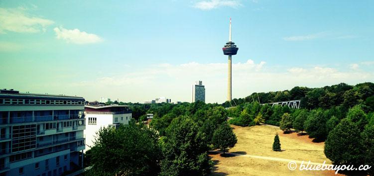 Ausblick aus einem Superior Zimmer im NH Collection Hotel Köln Mediapark.