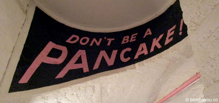 """Crème de la Crêpe in London: Das Motto ist """"Don't be a Pancake""""."""