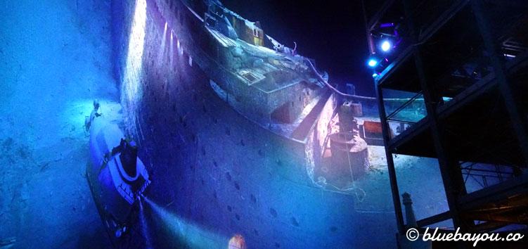 Das beeindruckende Panorama der gesunkenen Titanic im Panometer Leipzig.