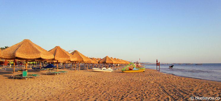 Der Strand in Pescara.