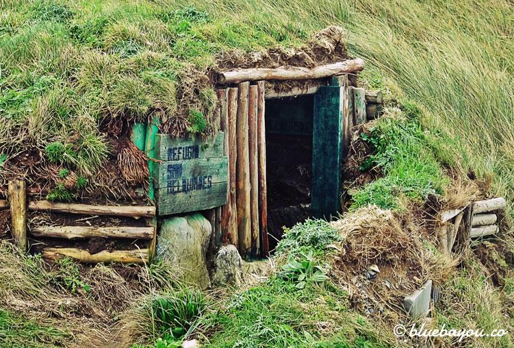 Refugees welcome: diese Hütte befindet sich oberhalb eines Strandes.