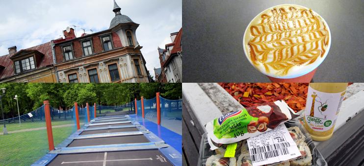 Impressionen aus Riga: Salted Caramel Kaffee, Supermarkt-Eroberung, Trampolin und Architektur.