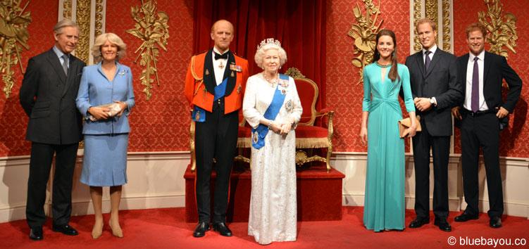 Die königliche Familie bei Madame Tussauds in London.