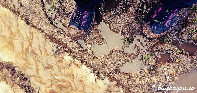 Die Wege auf dem Camino del Norte sind extrem verschlammt und überflutet.