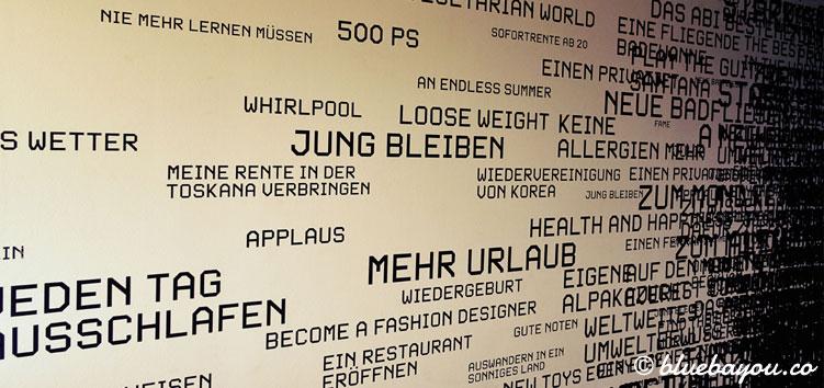 Die letzte Wand mit Wünschen, bevor man sich selbst Gedanken machen darf.