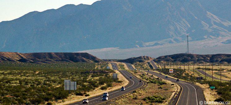 Fantastische Ausblicke beim Fahren in den USA.