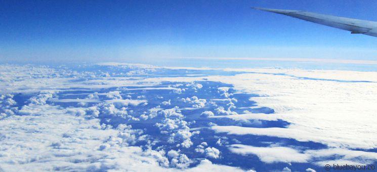 Aufbrechende Wolken über den USA.