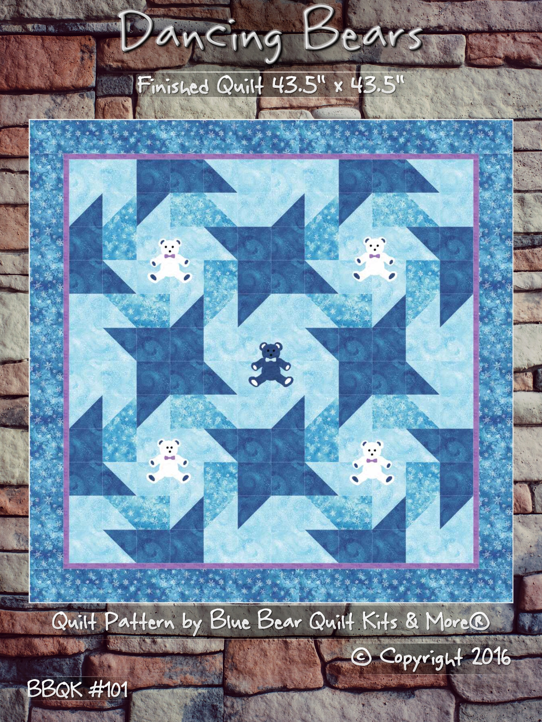 Dancing Bears Quilt Pattern Easy For Beginners Great For Babies Or