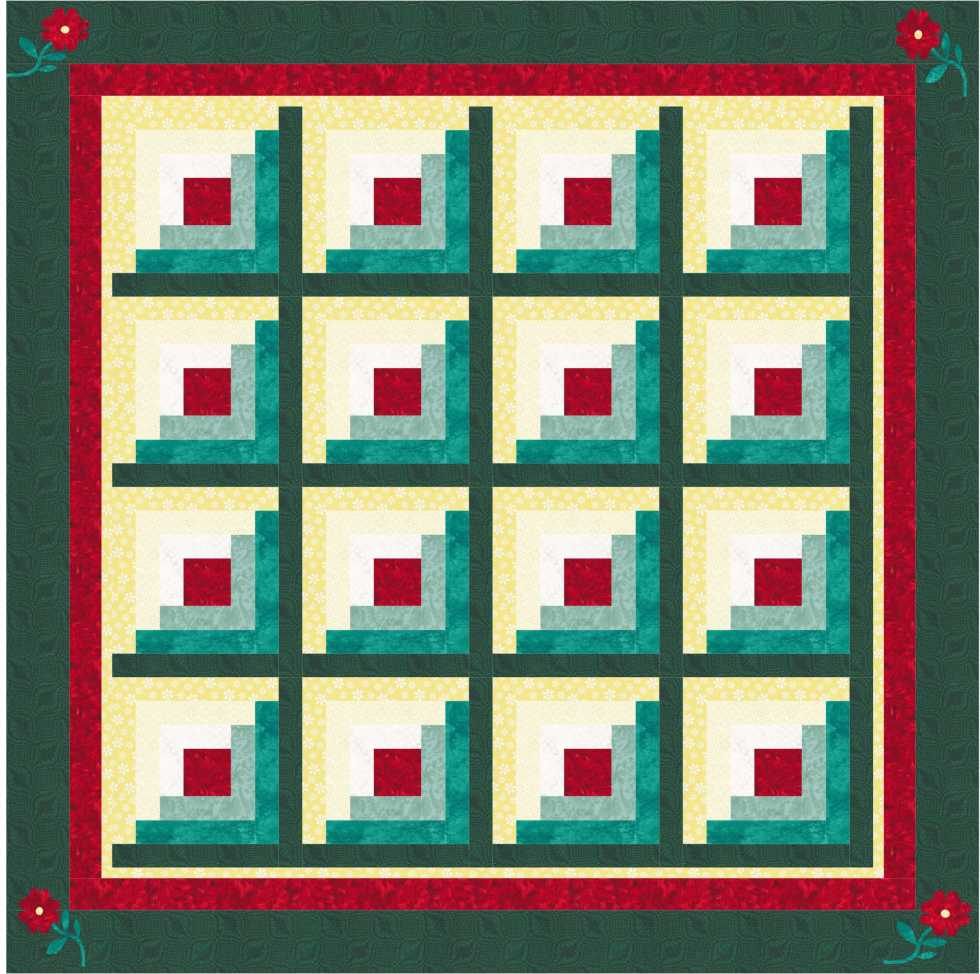 Traditional Log Cabin Quilt