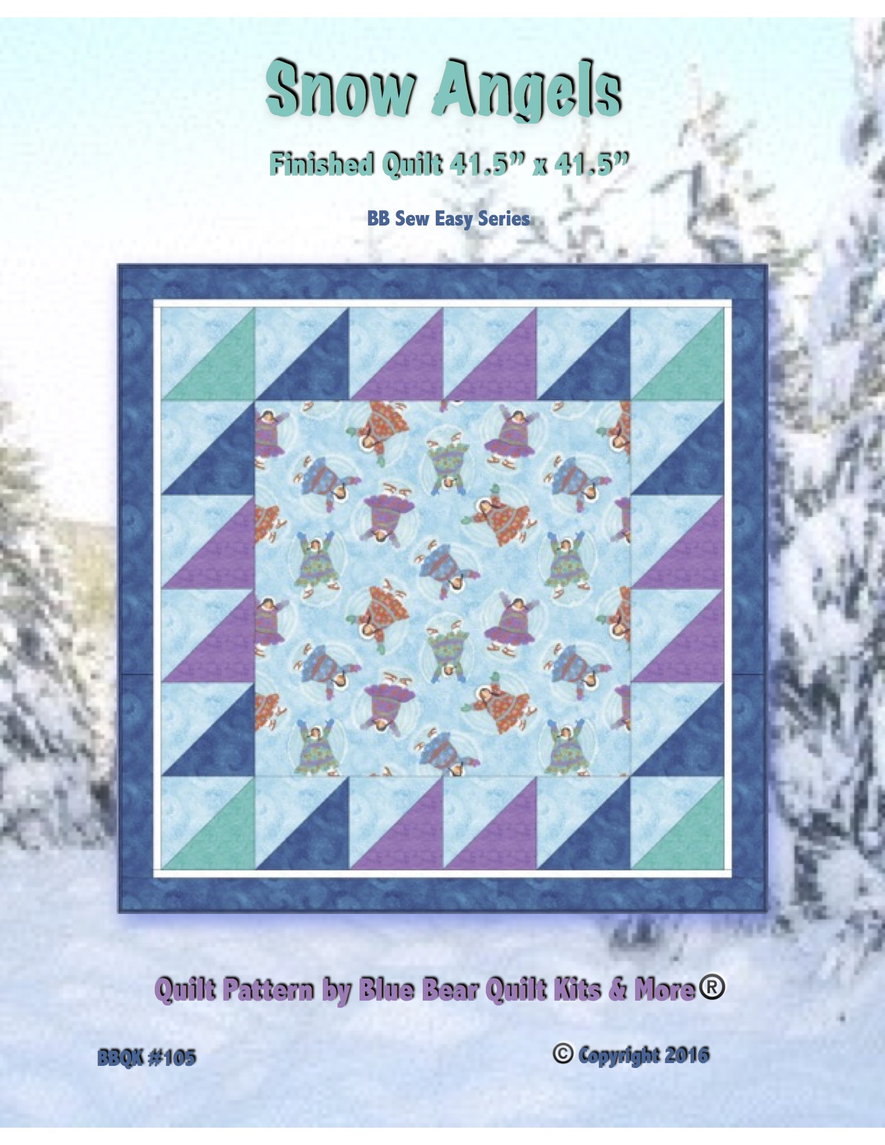 Baby Quilt Patterns.Snow Angels Quilt Pattern Baby Quilt Hard Copy Mailed To You Easy For Beginners Holiday Present Eskimo Snow Bright Colors For Child Or Girl