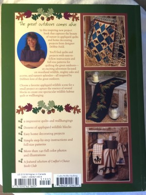 Quilting the Great Outdoors Book -back cover