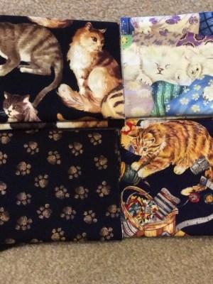 8 Cat Fat Quarter Fabric