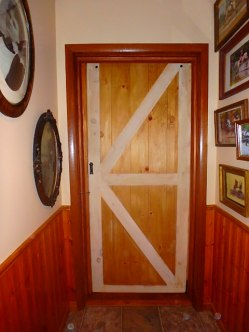 This is the hall-way side of the Kent Lumber replica barn door.