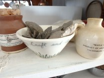 handmade pottery with another of my grandfather's collections: arrowheads from our 'homestead' in Straffordville