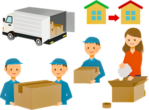 Movers assisting in a relocation