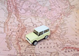 a car on a map