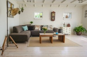 A bright room with furniture