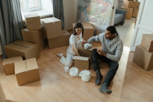a couple downsizing to a smaller home