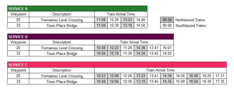Lindfield Timetable