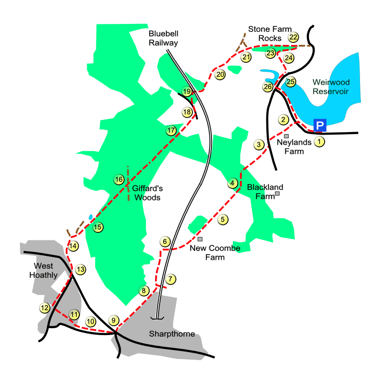 Weirwood route map