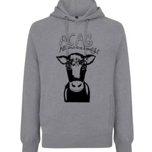 Acab grau hoodie unisex