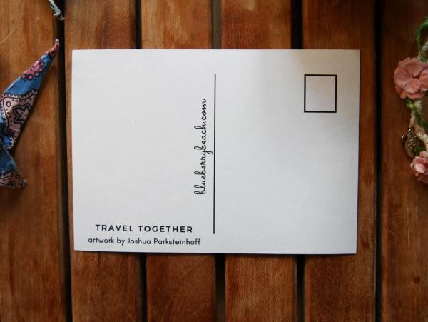 back of postcard travel together