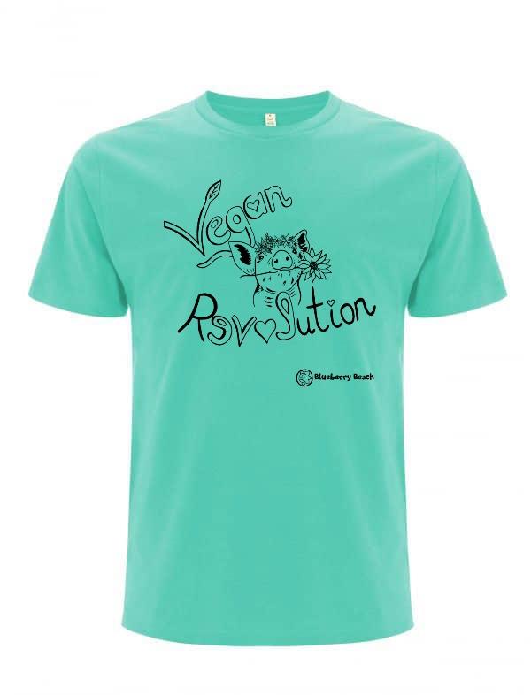 Vegan revolution men organic t-shirt