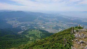 伊吹山山頂からの景色