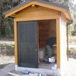 トイレ棟ログハウス