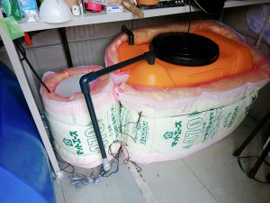 タンクを結露防止