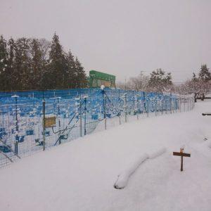 伊吹山は雪雲の中です