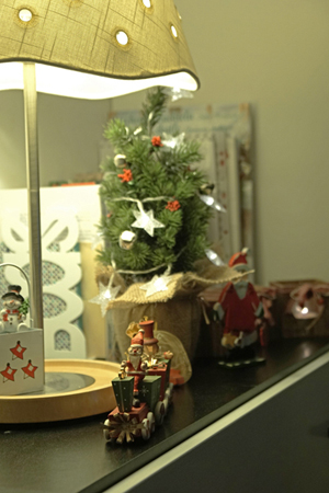 Christmas tree in the miniature