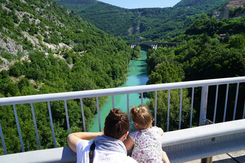 Looking at Soča river