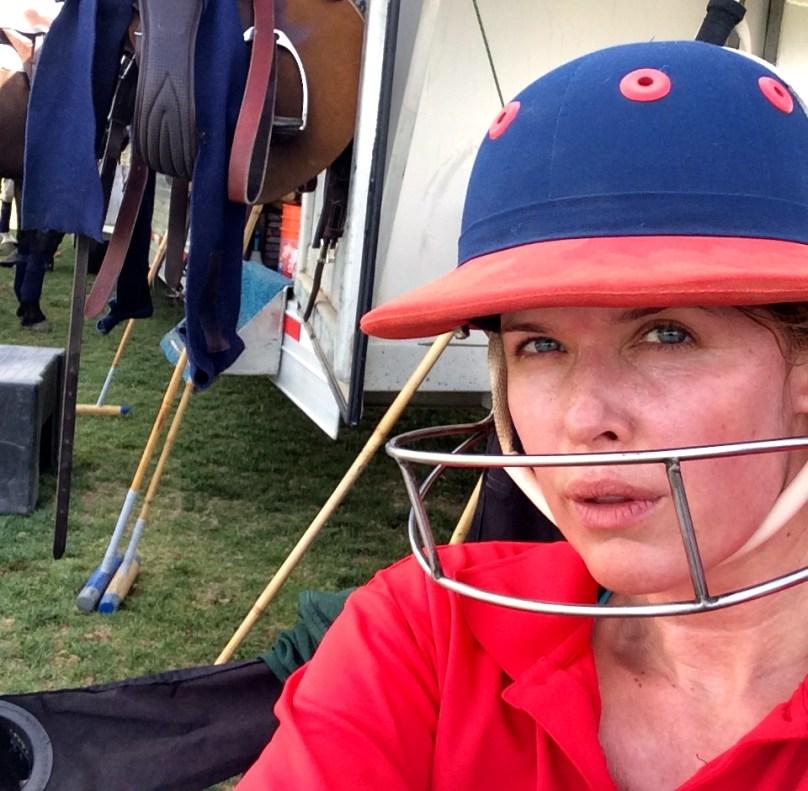 Tiffany Burns in Polo Helmet