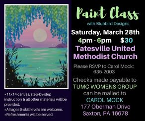 Bluebird Designs Paint Class