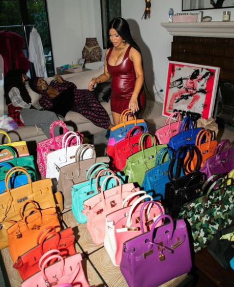 Cardi B Shows Off Her Extensive Birkin Bag Collection .