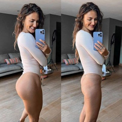 A fitness influencer has taken to social media to expose how advertisers lure customers in with their perfected advert images.