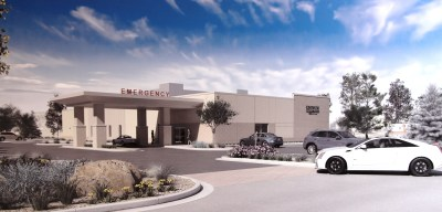 This artist rendering shows how the new emergency department in Cleveland will look once it is ready to open next May.