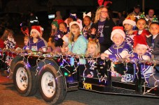 Star Twirl had dozens of young people walking, riding and performing at the Country Christmas lighted parade on Nov. 27 in downtown Liberty.